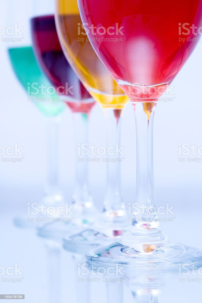 Four glasses royalty-free stock photo