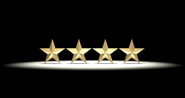 Four Gold Stars stock photo
