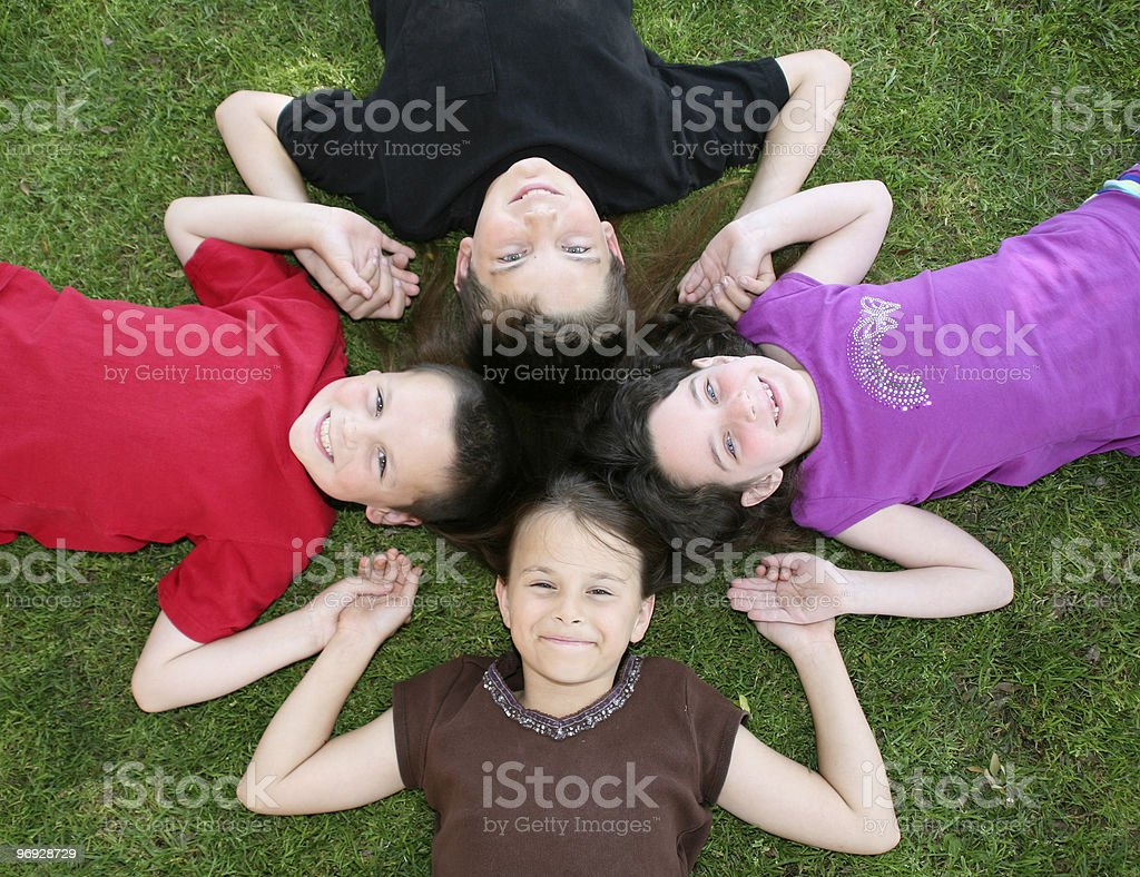 Four Good Friends royalty-free stock photo