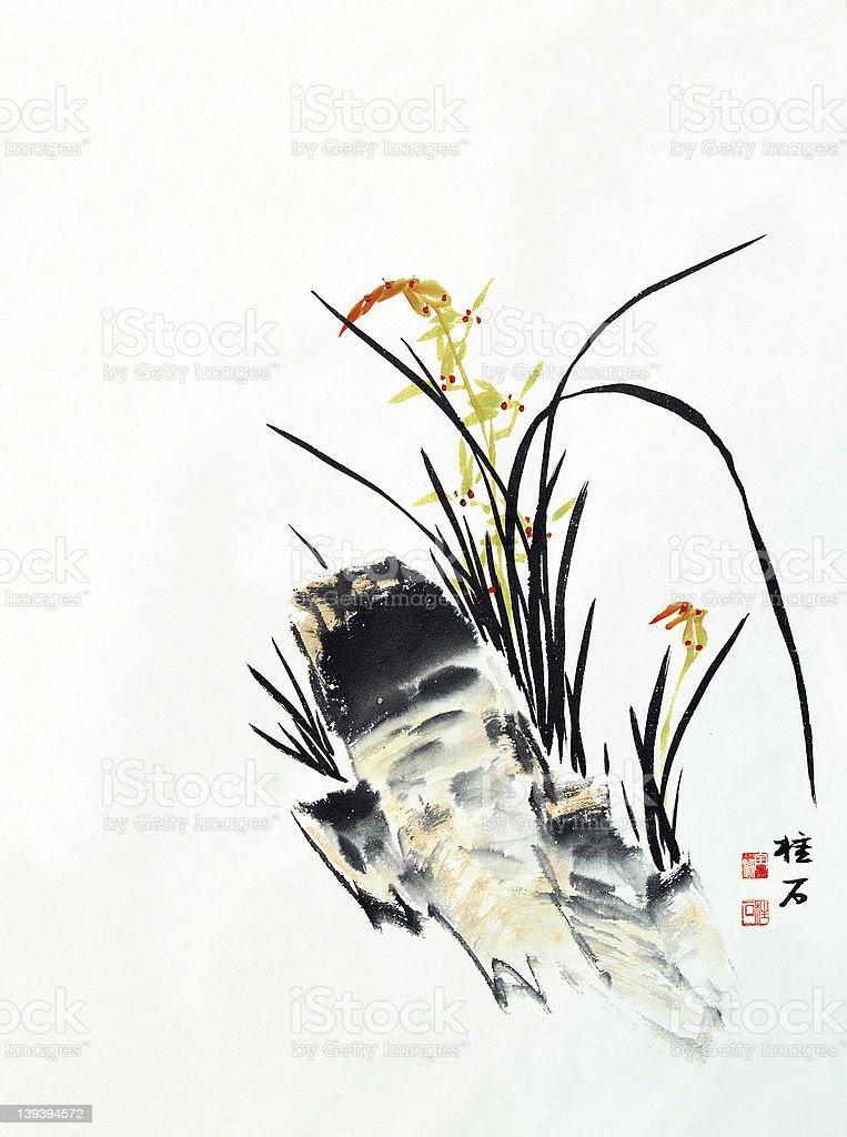 Four Gracious Plants stock photo