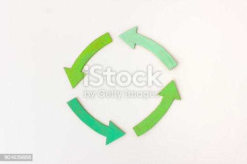 istock Four green arrows in circle 904639658