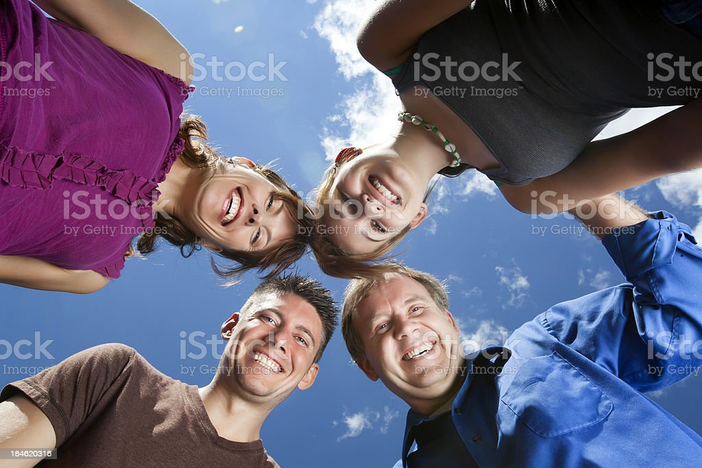 four heads are better than one royalty-free stock photo
