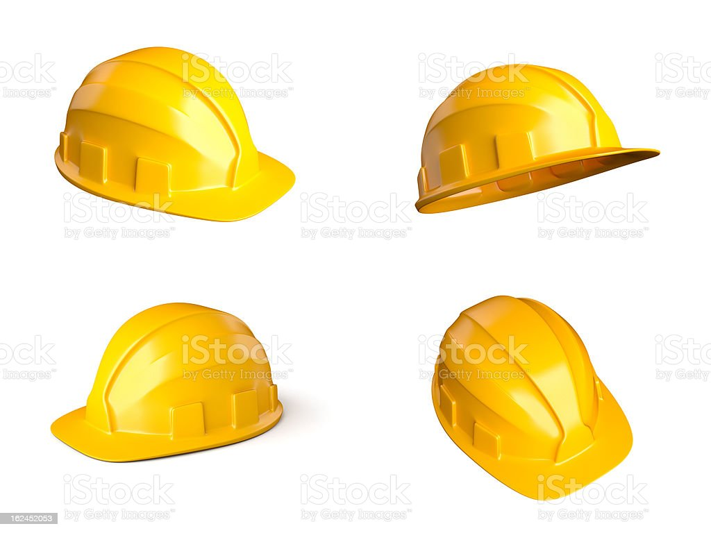 Four helmets stock photo