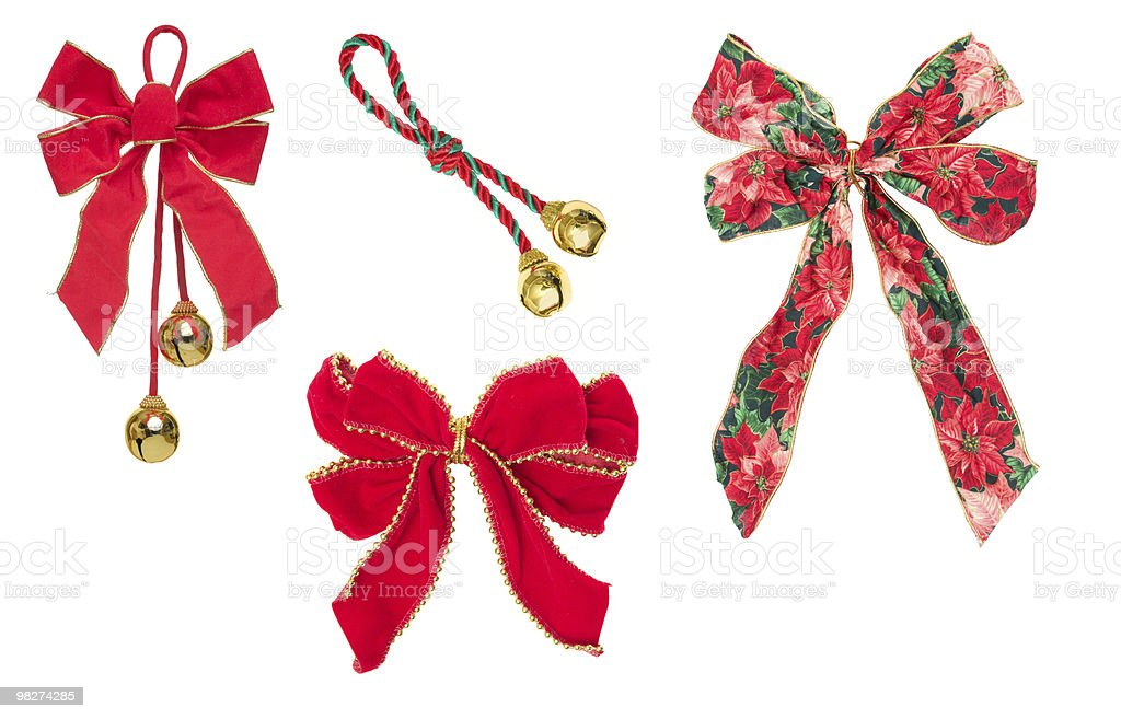 Four Holiday Ribbons royalty-free stock photo