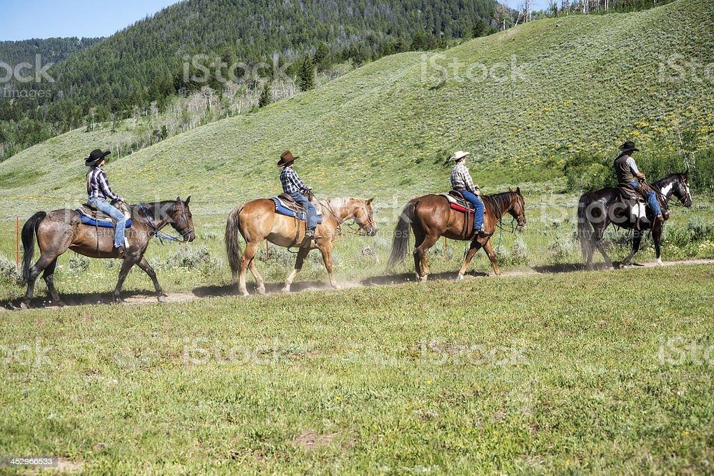 Four Horsemen stock photo