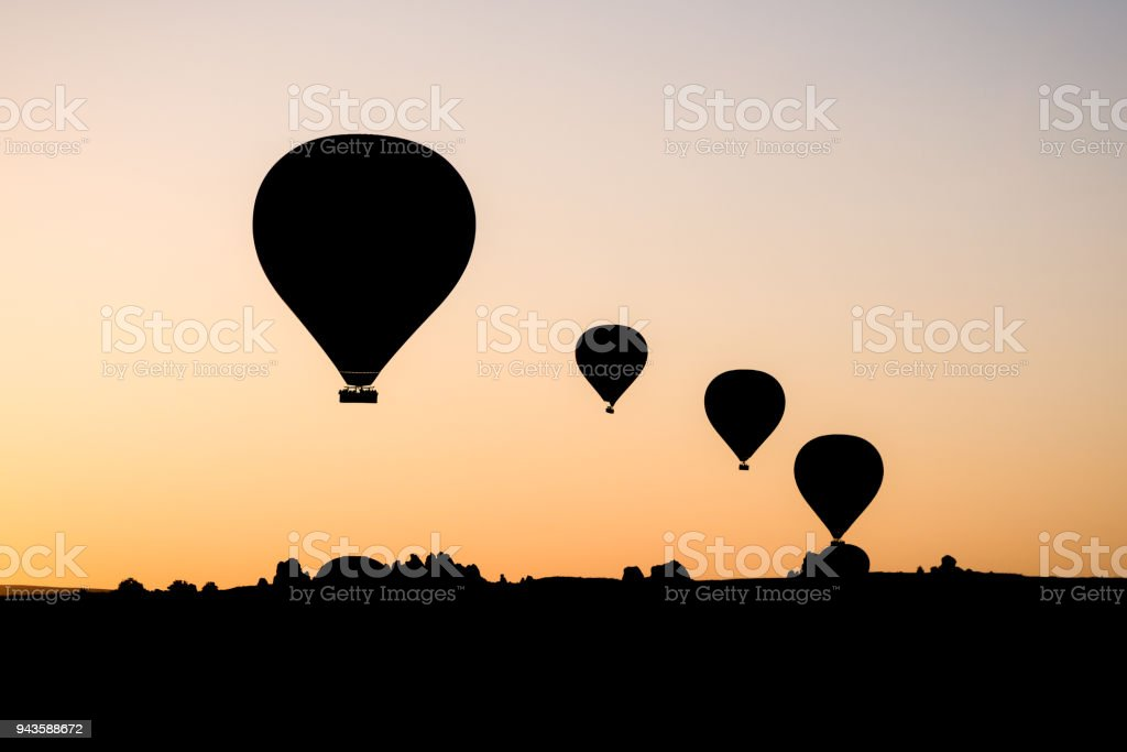 Four in Flight stock photo