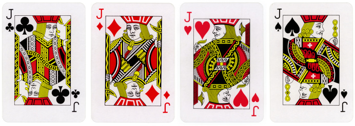 The Jack of Diamonds, Jack of Hearts, Jack of Spades, and Jack of Clubs.