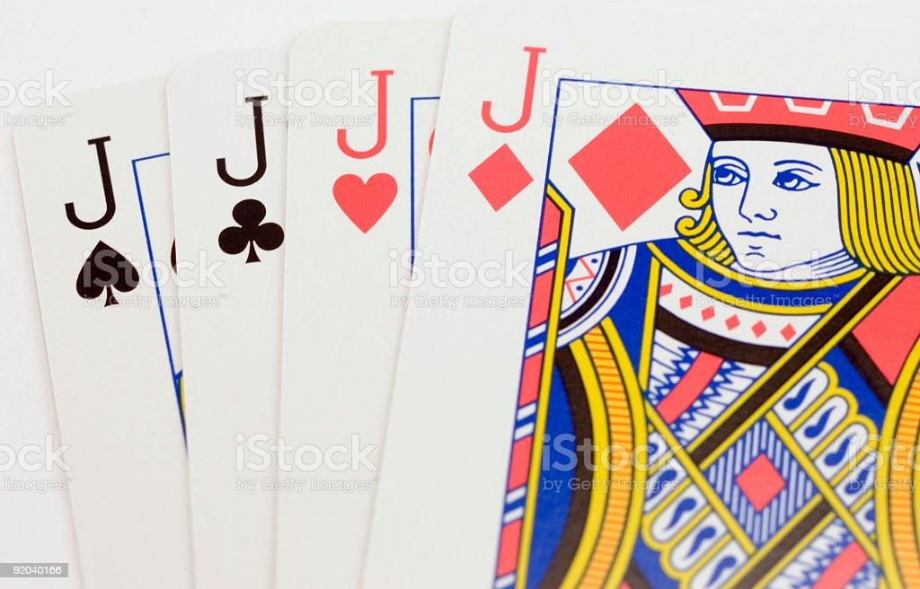Four Jacks - Poker Playing Cards royalty-free stock photo