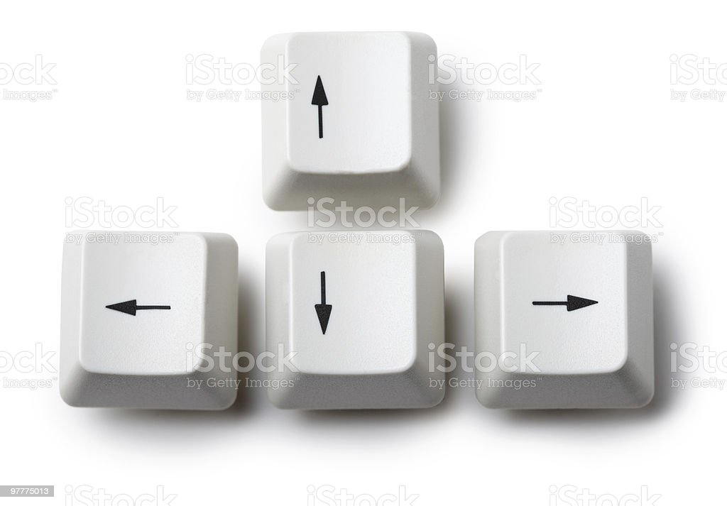 Four Keyboard Arrow Keys On White Background Stock Photo More