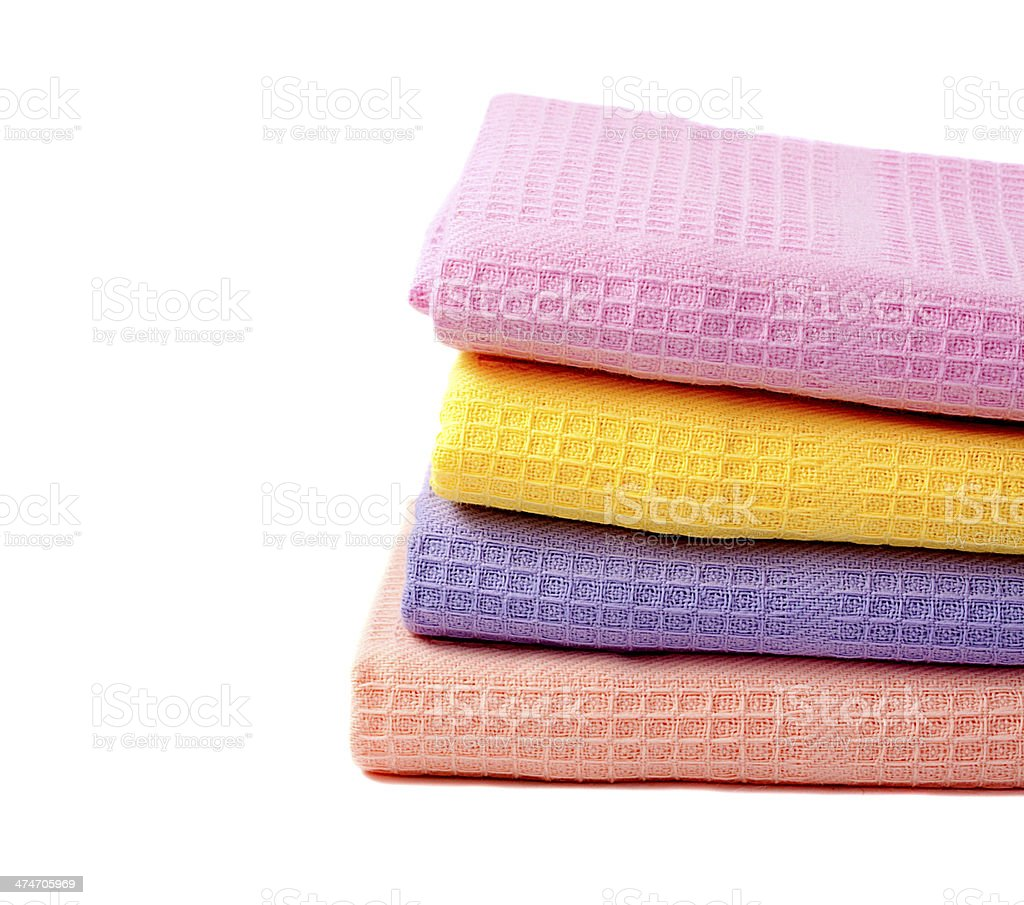 four kitchen towels royalty-free stock photo