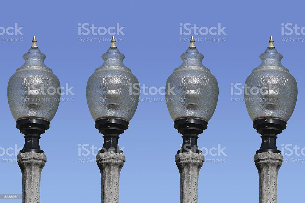 Vier-Lampen Lizenzfreies stock-foto