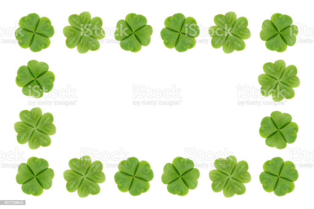 Four Leaf Clover Abstract Or Good Luck On White Background Royalty Free Stock Photo