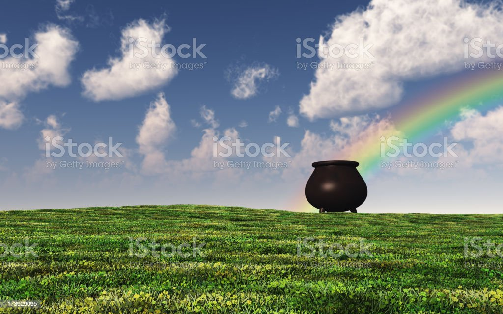 Four Leaf Clover Field royalty-free stock photo