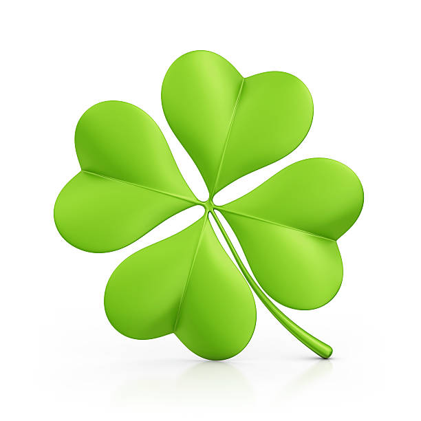 four leaf clover - clip art stock photos and pictures