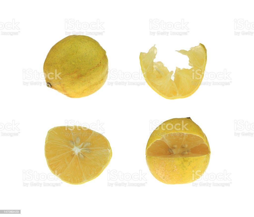 Four Lemons royalty-free stock photo