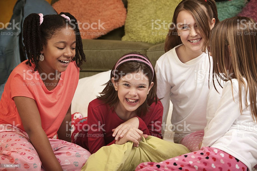 Four Little Girls royalty-free stock photo