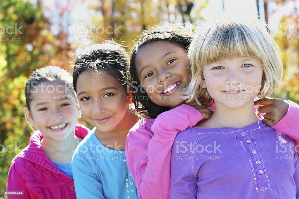 Four little girls stock photo