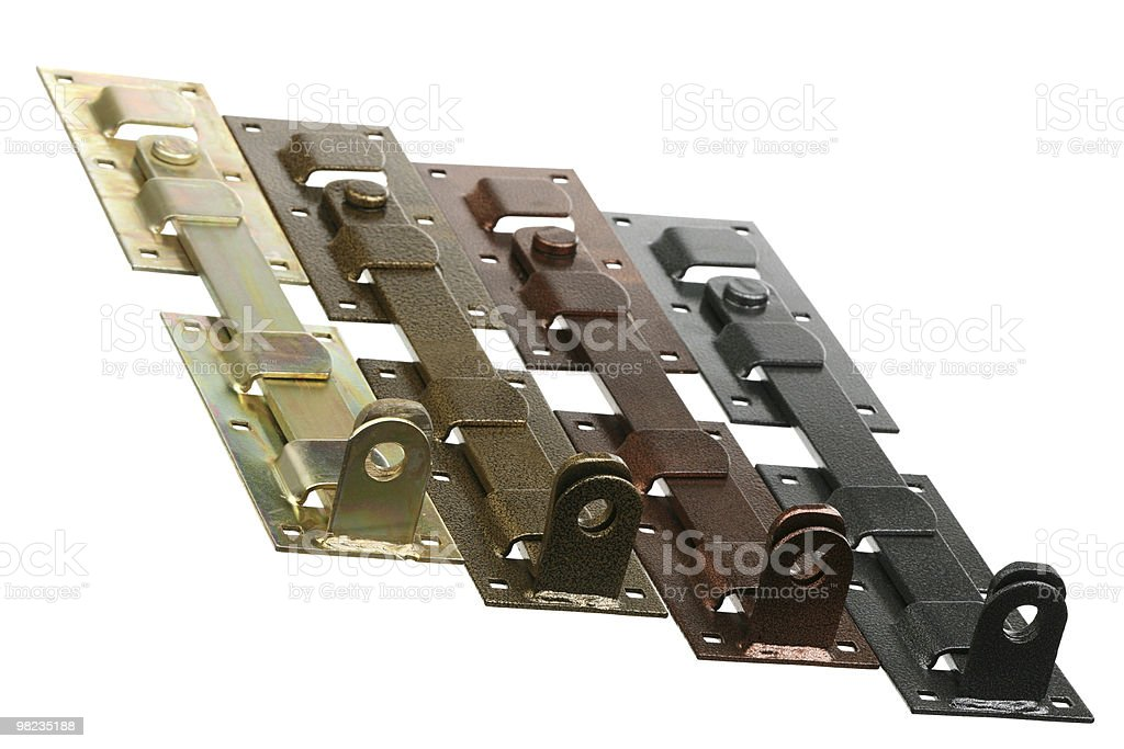 Four metal bolts royalty-free stock photo
