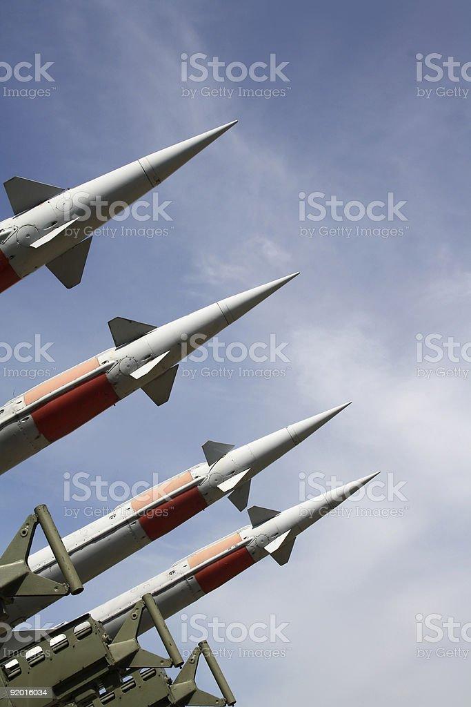 Four missiles stock photo