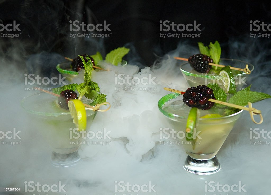 Four Mojito cocktails royalty-free stock photo