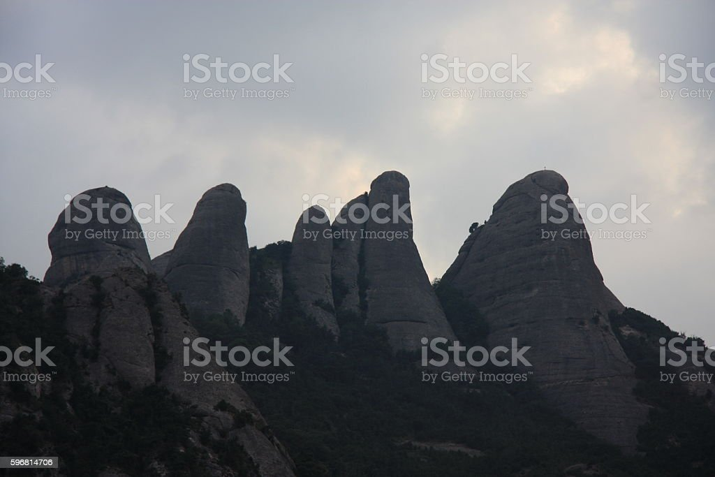 four mountains stock photo