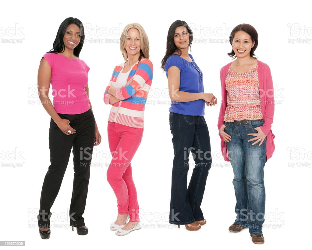 Four Multi Ethnic Women royalty-free stock photo
