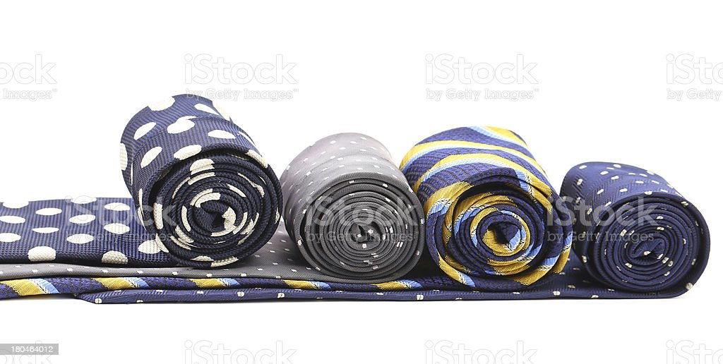 Four multi-colored tie royalty-free stock photo
