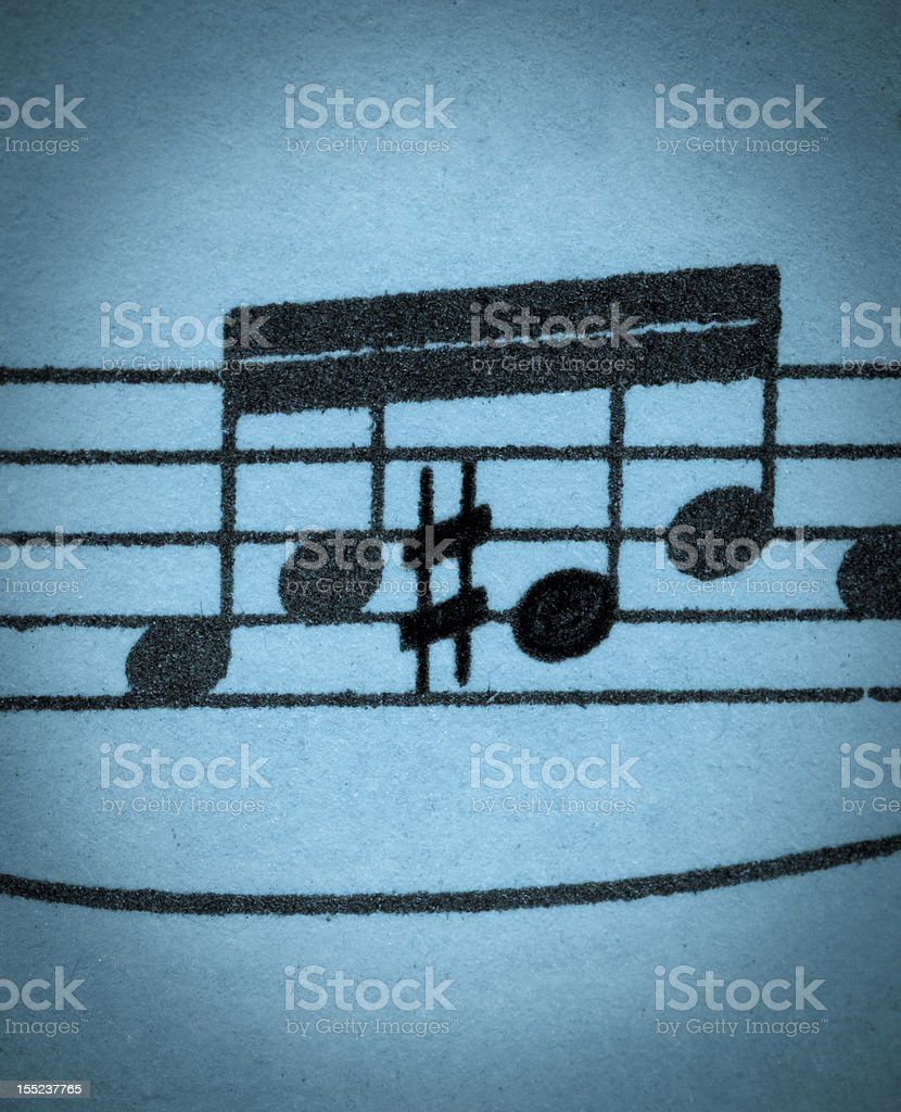 Four notes with one sharpened stock photo