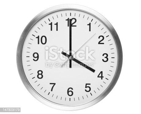 four o'clock on quartz clock.