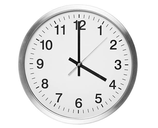 four o'clock four o'clock on quartz clock. number 4 stock pictures, royalty-free photos & images