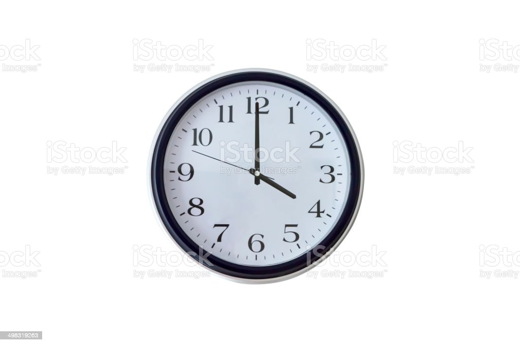 Four o'clock stock photo