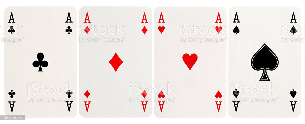 four of a kind - Aces royalty-free stock photo