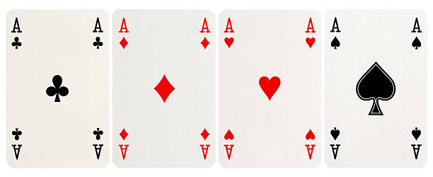 four of a kind - Aces stock photo