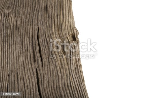 istock Four old wooden boards isolated on a white background. Old Wood plank 1158720252