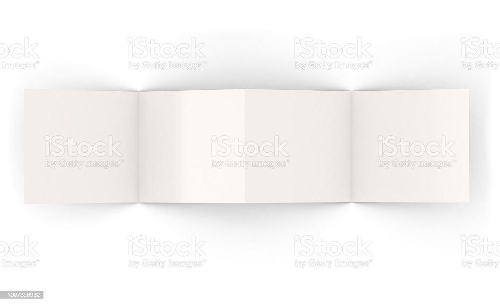vier Seiten isolierte Broschüre – Foto