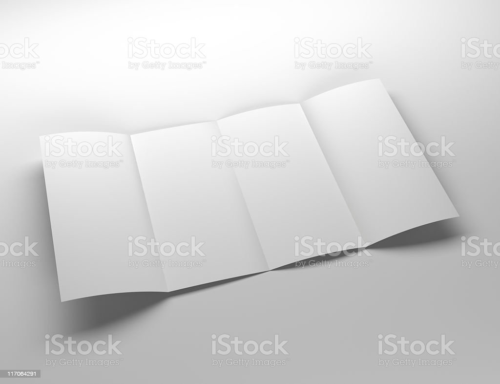 four panel brochure royalty-free stock photo
