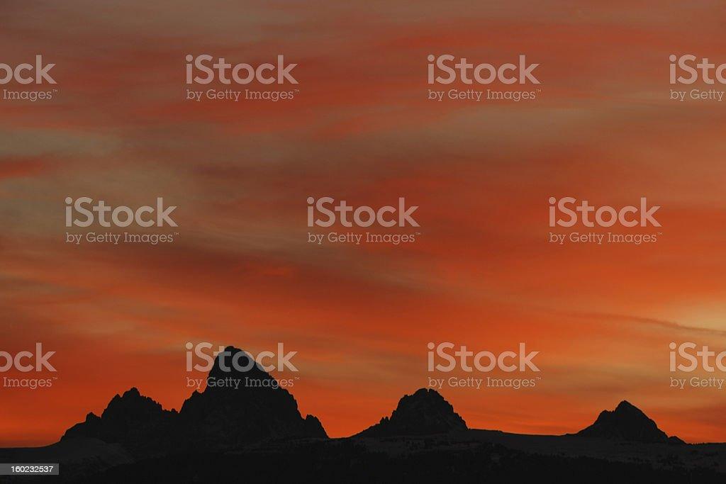 Four Peaks Silhouette stock photo