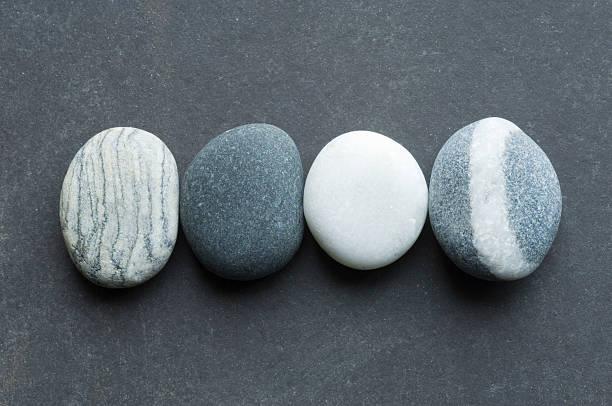 Four pebbles stock photo