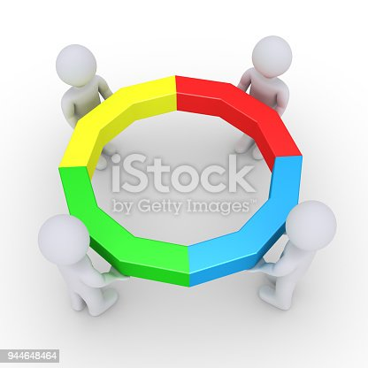 istock Four people holding completed circle 944648464
