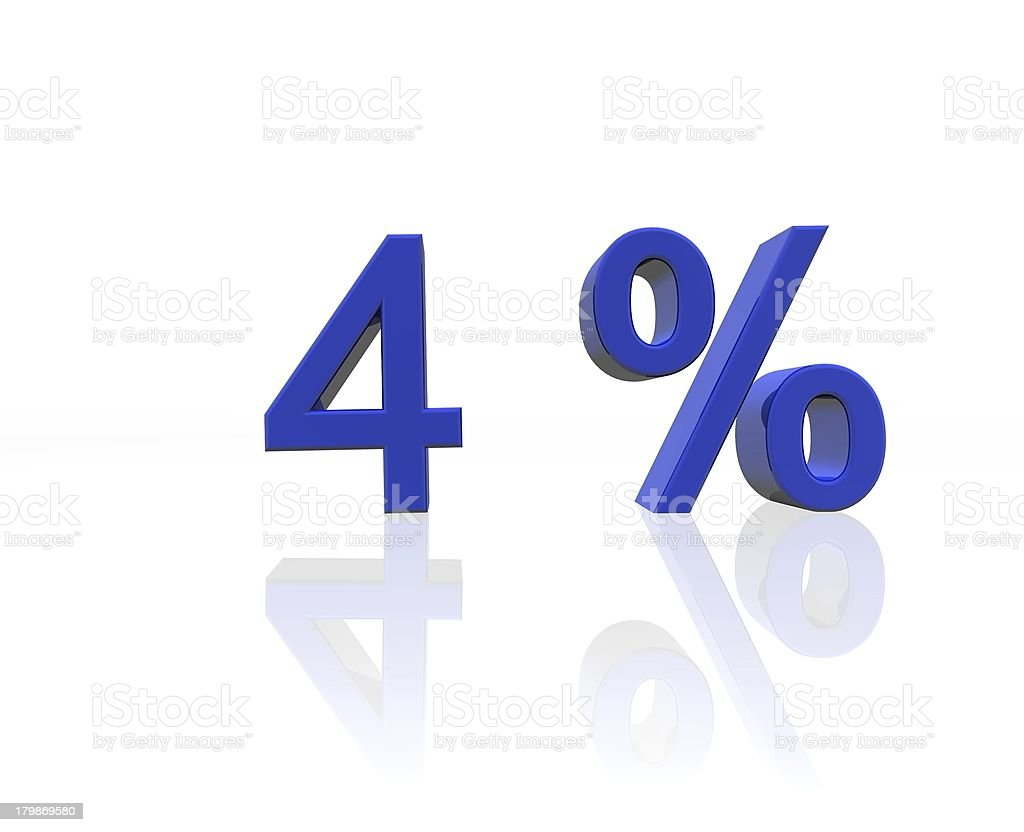 four percent royalty-free stock photo