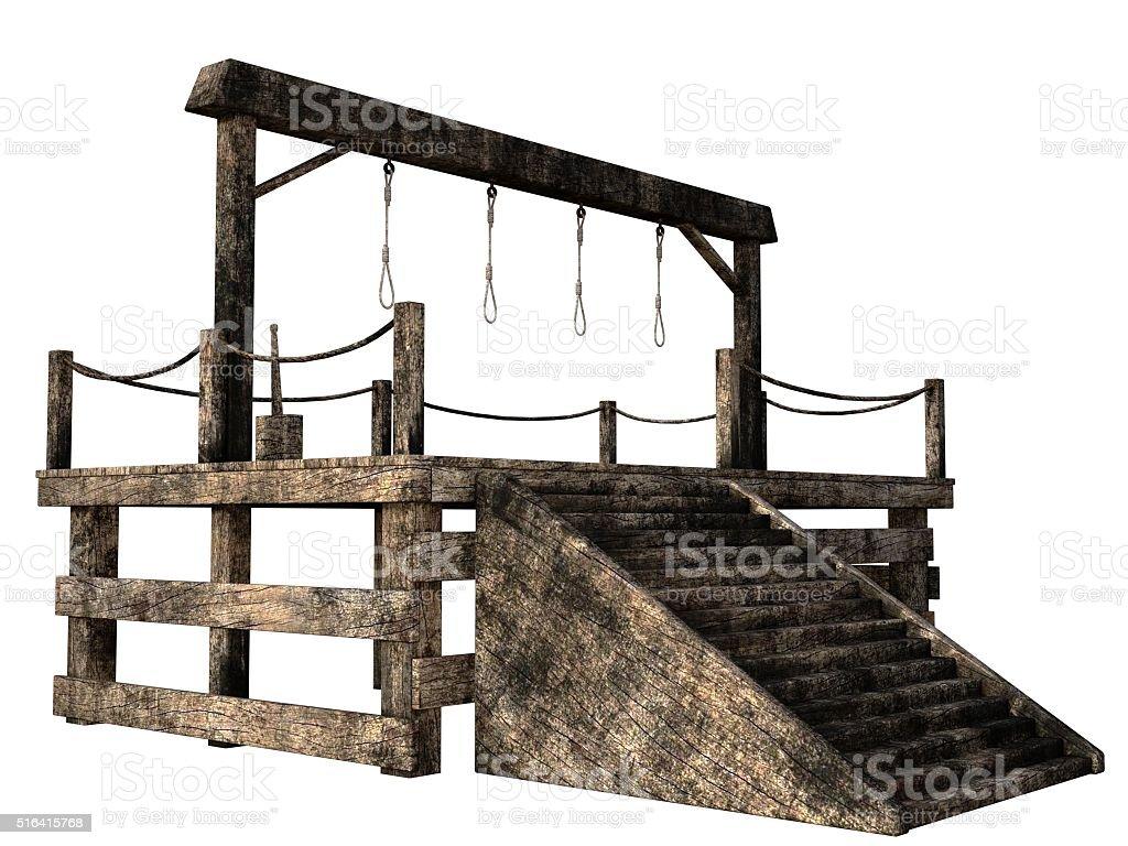 Four person gallows stock photo