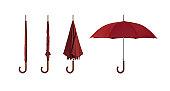 赤色傘、クリッピングパス