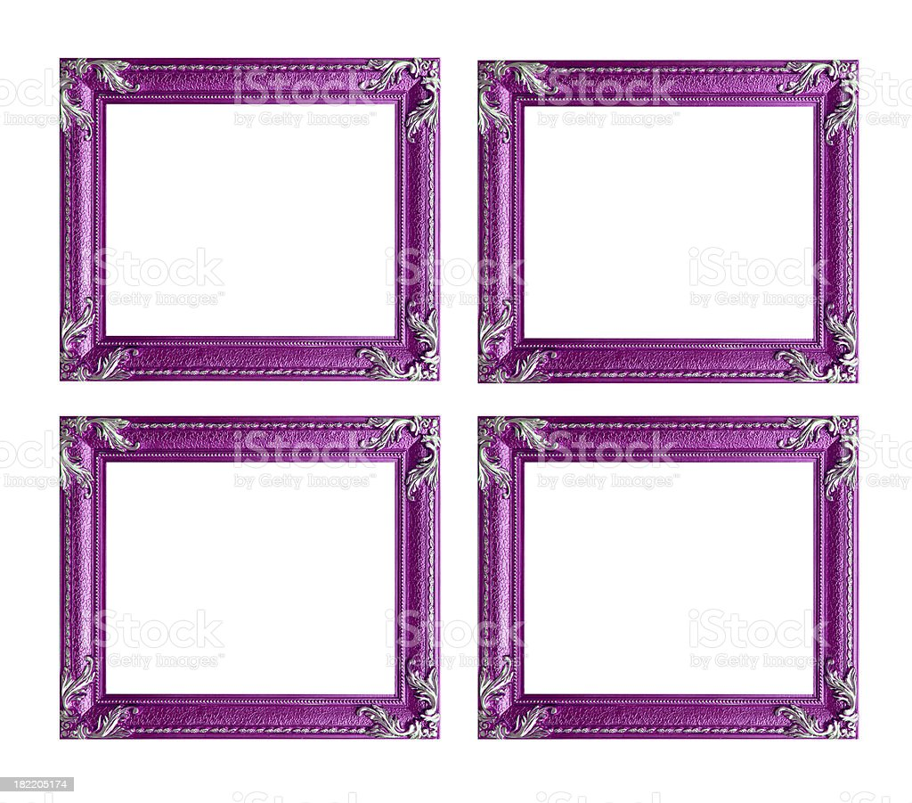 Four pink picture frames royalty-free stock photo