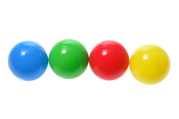 bälle - kunststoff farbe stock-fotos und bilder
