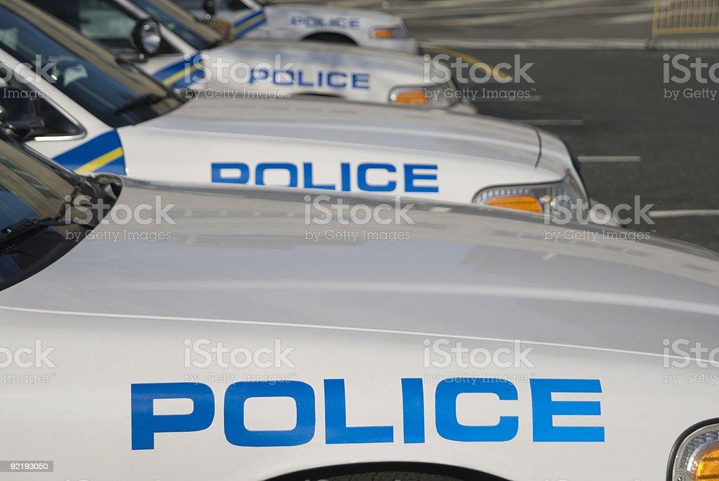 Four Police Cars stock photo