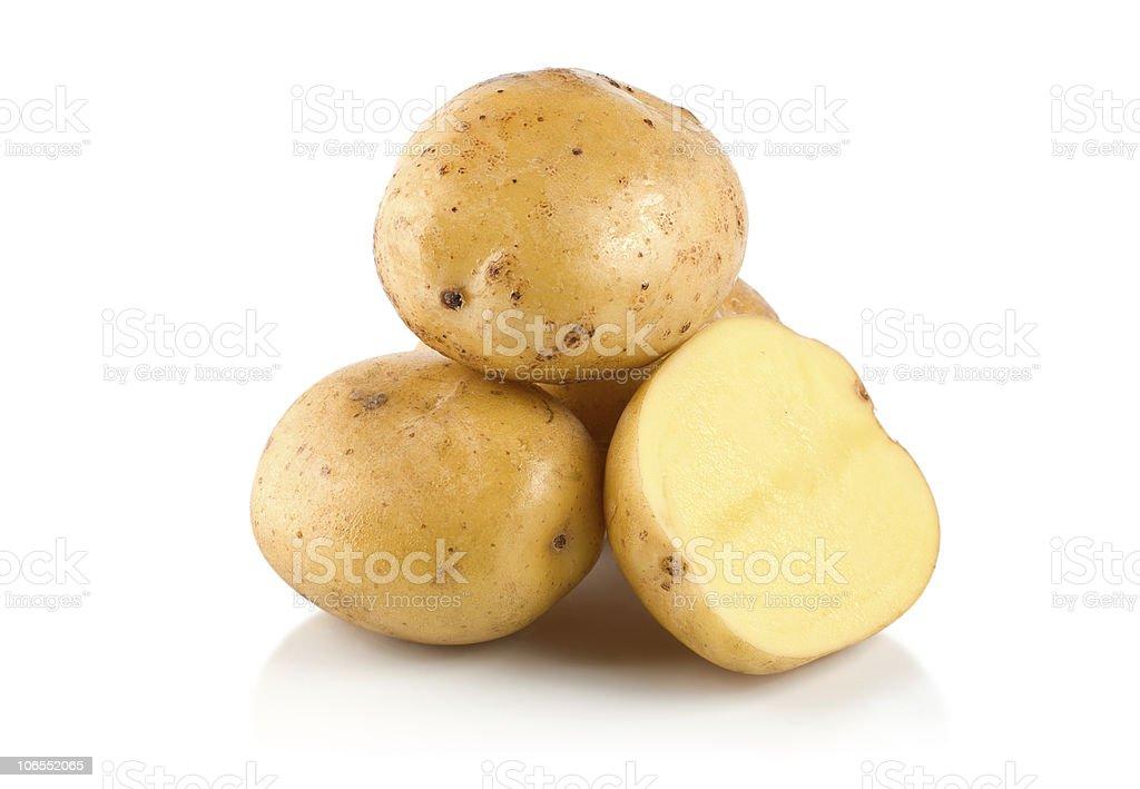 Four potatoes royalty-free stock photo