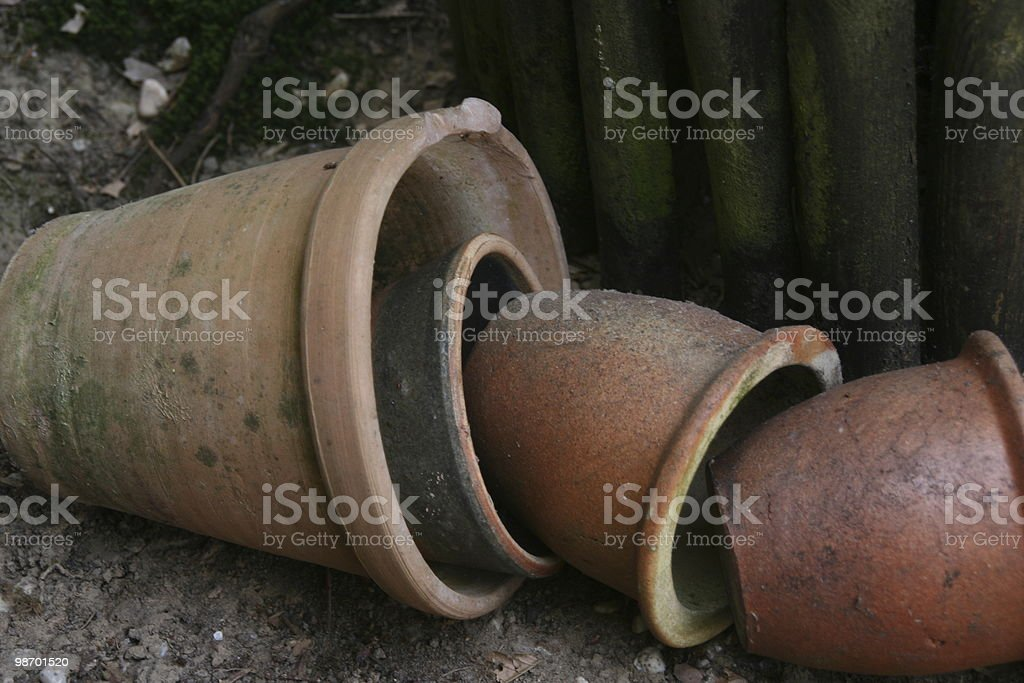 Four Pots royalty-free stock photo