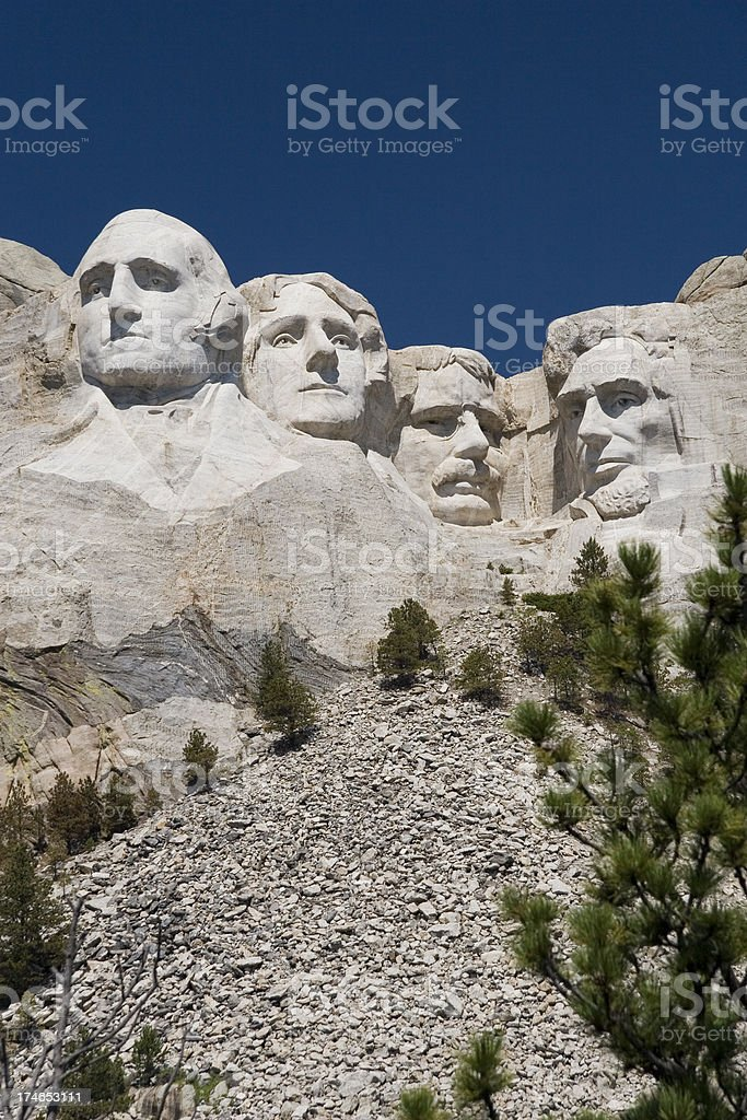 Four Presidents royalty-free stock photo