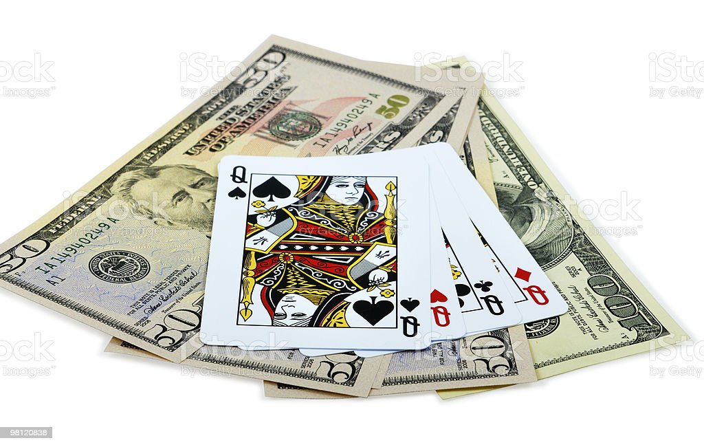Four Queens And Dollars royalty-free stock photo