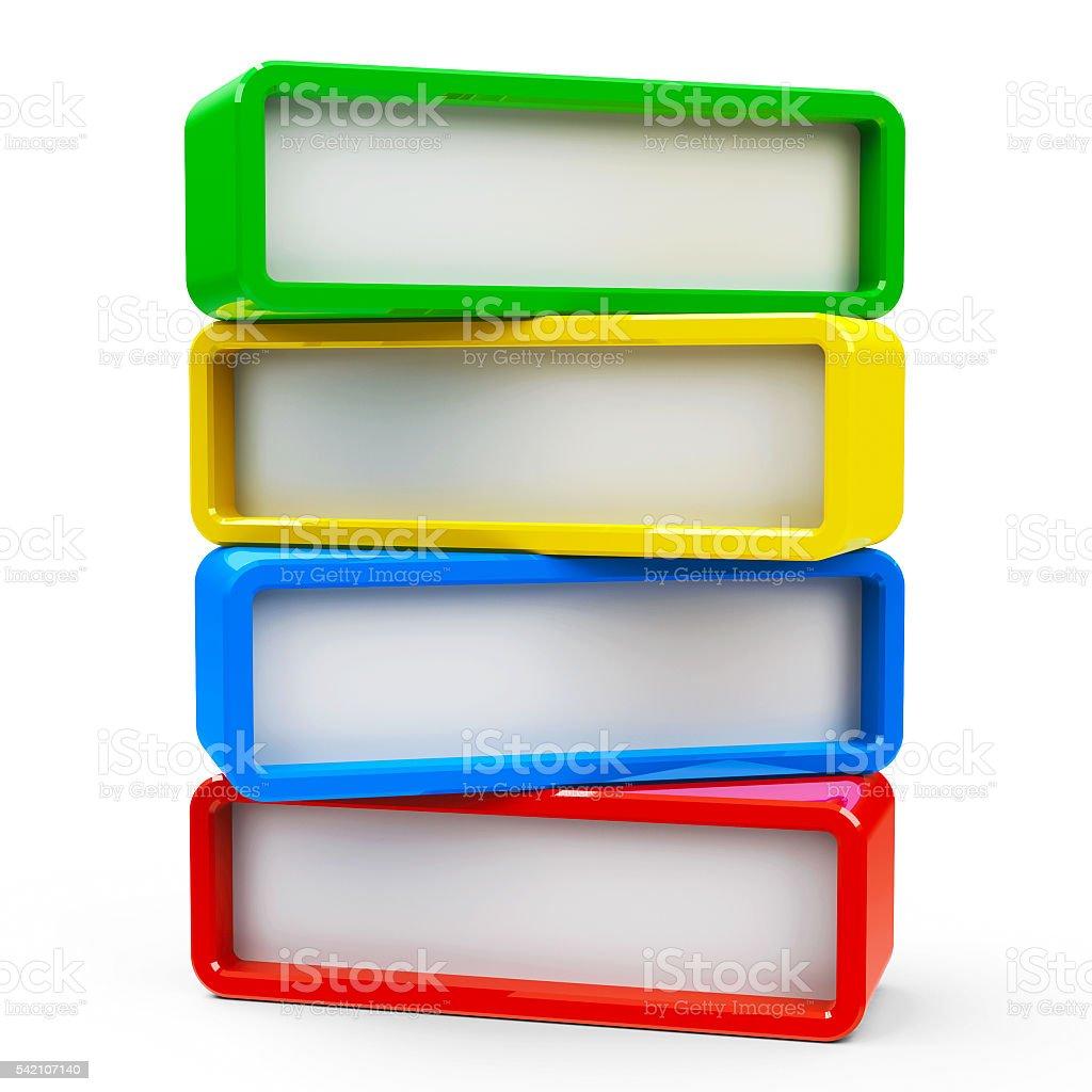 Four rectangle - four steps #2 stock photo